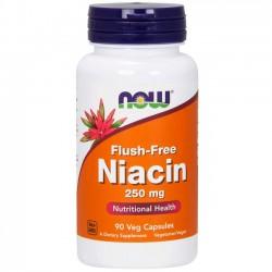 Flush-free Niacin 250mg (90 cápsulas) - Now Foods