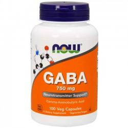 Gaba 750mg (100 cápsulas) - Now Foods