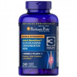 Double Strength Glucosamine Chondroitin MSM (240caps) - Puritan's Pride