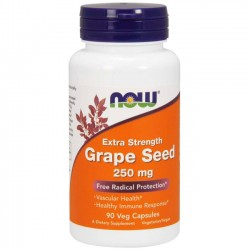 Grape Seed Extract 250mg (90 cápsulas) - Now Foods