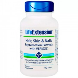 Hair, Skin & Nails Rejuvenation Formula (90 tabletes) - Life EXtension