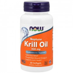 Krill Oil 500mg (60 softgels) - Now Foods