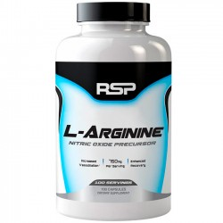 L-arginina 750mg (100 caps) - RSP Nutrition