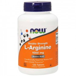 L-arginina 1000mg (120 cápsulas) - Now Foods