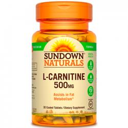 L-Carnitine 500mg (30 tabs) - Sundown Naturals
