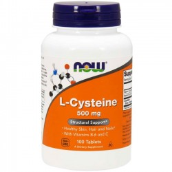 L-Cysteine 500mg (100 tabletes) - Now Foods