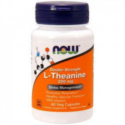 L-Theanine 200mg (60 cápsulas) - Now Foods