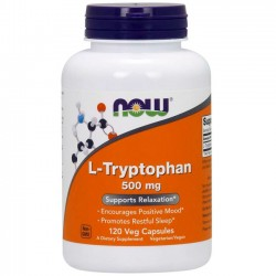 L-Triptofano 500mg (120 cápsulas) - Now Foods