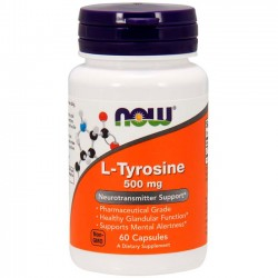 L-Tyrosine 500mg (60 cápsulas) - Now Foods