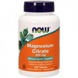 Magnesium Citrate (100 tabletes) - Now Foods