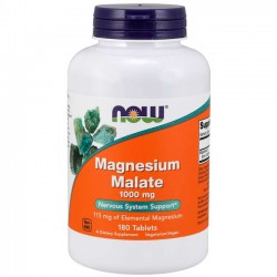Magnesium Malate 1000mg (180 tabletes) - Now Foods