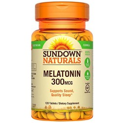 Melatonina 300 mcg (120 tabs) - Sundown Naturals