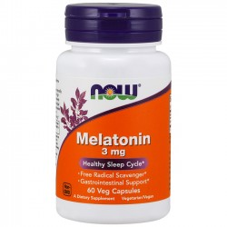 Melatonin 3mg (60 caps) - Now Foods