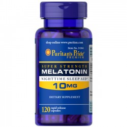 Melatonina 10mg (120 cápsulas) - Puritan's Pride