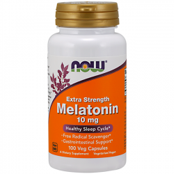Melatonina 10mg - Extra Forte - Now Foods