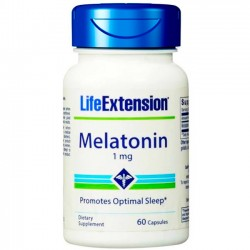 Melatonina 1mg (60 cápsulas) - Life Extension