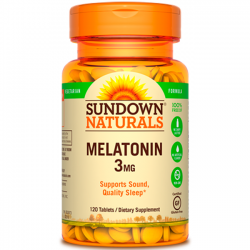 Melatonina 3mg (120 tabs) - Sundown Naturals