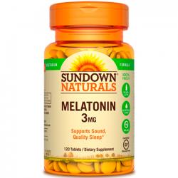 Melatonina 3mg (120 tabs) - Sundown Naturals