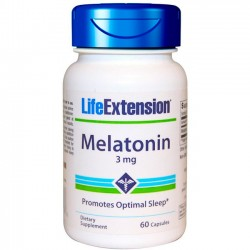 Melatonina 3mg (60 cápsulas) - Life Extension