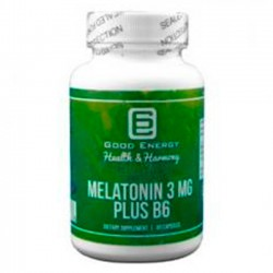 Melatonin 3mg Plus B6 (60 caps) - Good Energy