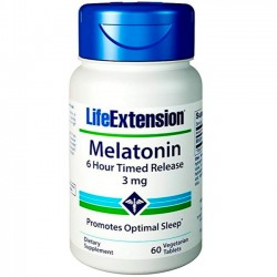 Melatonina 6 Hour Timed Release (60 tabletes) - Life Extension