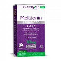 Melatonina Advanced Sleep 10mg (100 tabs) - Natrol