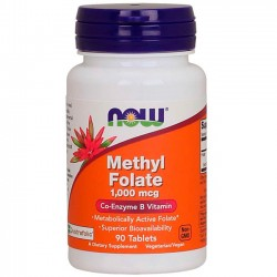 Methyl Folate 1000mcg (90 tabletes) - Now Foods