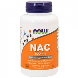 NAC 600mg (100 cápsulas) - Now Foods