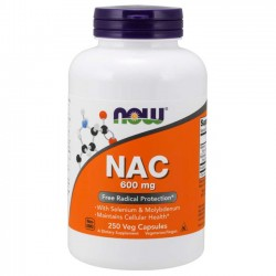 NAC 600mg (250 cápsulas) - Now Foods