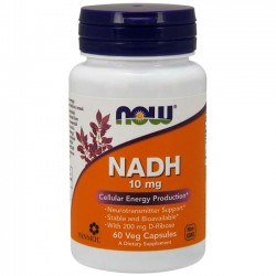 NADH 10mg (60 cápsulas) - Now Foods