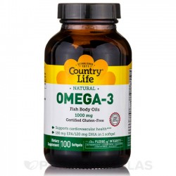 Ômega 3 1000mg - 100 softgels - Country Life