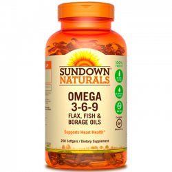 Omega 3-6-9 (200 Softgels) - Sundown Naturals