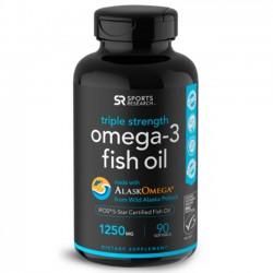 Omega-3 Fish Oil Alaska (90 softgels) - Sports Research