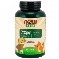 Omega-3 Support (180 softgels) - NOW Pets