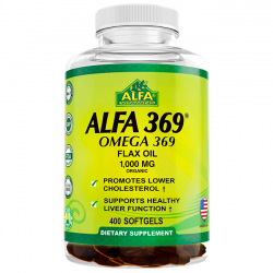 Alfa 369 - Omega 369 1000mg (400 softgels) - Alfa Vitamins
