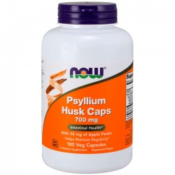 Psyllium Husk 700mg (180 cápsulas) - Now Foods