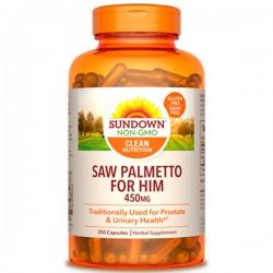 Saw Palmetto 450mg (250 cápsulas) - Sundown Naturals