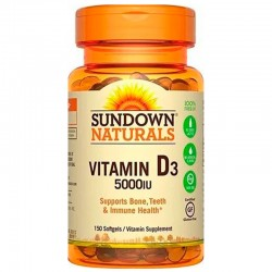 Vitamina D3 5000IU (150 Softgels) - Sundown Naturals