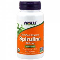 Spirulina 500mg (100 tabletes) - Now Foods