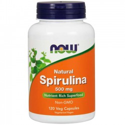 Spirulina 500mg (120 cápsulas) - Now Foods