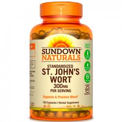 St. John's Wort 300mg (150 caps) - Sundown Naturals