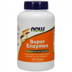 Super Enzymes (180 cápsulas) - Now Foods