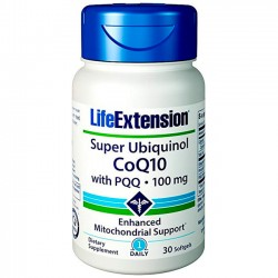 Super Ubiquinol CoQ10 com PQQ (30 softgels) - Life Extension