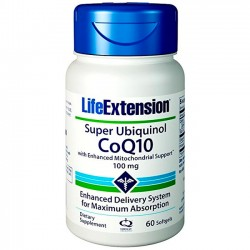 Super Ubiquinol CoQ10 100mg - 60Caps - Life Extension