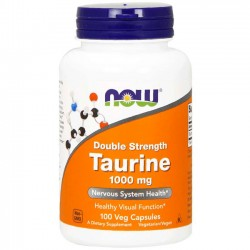 Taurina 1000mg (100 cápsulas) - Now Foods