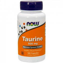 Taurina 500mg (100 cápsulas) - Now Foods