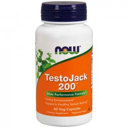 TestoJack 200 (60 cápsulas) - Now Foods