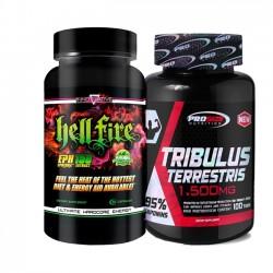 Combo: Tribulus Terrestris 1,500mg - Pro Size + Hell Fire - Innovative