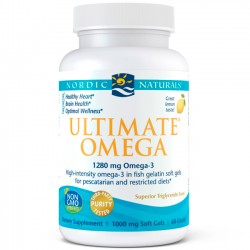 Ultimate Omega Fish Gelatin (60 softgels) - Nordic Naturals