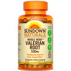 Valerian root (530mg) 100 caps - Sundown Naturals